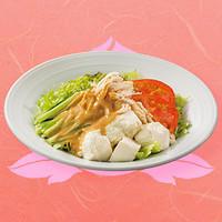豆腐のバンバンジーサラダ