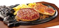 炭焼きチキンステーキとビリーハンバーグランチ
