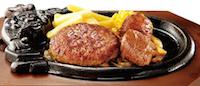 炭焼きやわらかカットステーキとビリーハンバーグランチ