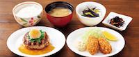 おろしハンバーグと牡蠣フライ膳(選べる小鉢つき)