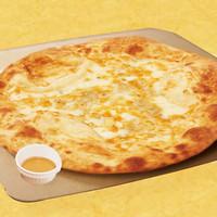 ゴルゴンゾーラチーズが入ったピッツァ(ハチミツ添え)