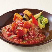 豪州産プレミアムビーフ100%ハンバーグ <彩り野菜のトマトバジルソース>単品