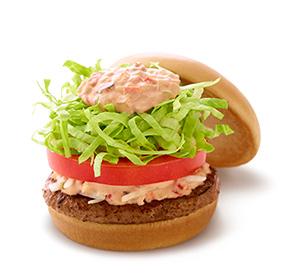 モス野菜バーガー オーロラソース仕立て