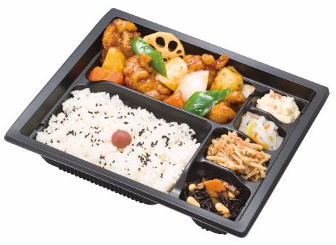 鶏と野菜の黒酢あん弁当