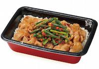 ニンニクの芽豚生姜焼き丼