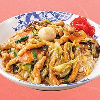 厚切り豚肉と彩り野菜の旨味あんかけチャーハン
