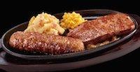 極み炭焼きブロンコハンバーグ&炭焼きローストサーロインステーキコンビセット