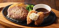 ハンバーグ(115g)&牡蠣フライ