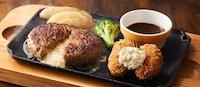 チーズインハンバーグ&牡蠣フライ