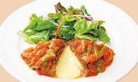 単品トマトとバジルのイタリアンチーズINハンバーグ