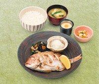 連子鯛の塩焼き定食