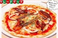 やわらかイカとアンチョビのピザ