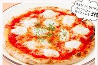 バッファローモッツァレラのピザ