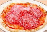 ミラノサラミのピザ