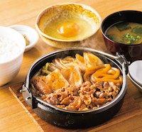 肉増・すき焼き定食