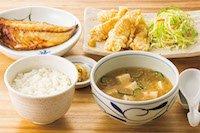 冷汁と鶏天の定食