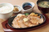 やみつきポークソテー定食【にんにくバター醤油】