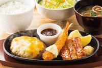 4種のチーズハンバーグミックス定食